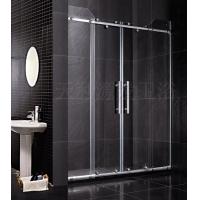100%正宗佛山品牌淋浴房不锈钢两梗两活对开趟门