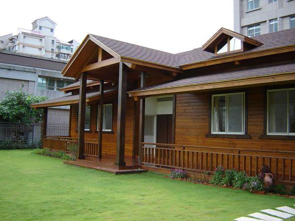 户外防腐木木结构房屋