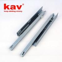 兩節半開阻尼抽屜滑軌 帶調整釘 家具路軌托底式緩沖滑道