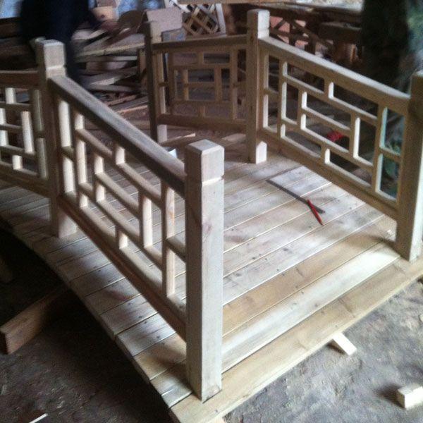 南京优质景观防腐木小桥|江苏小桥供应
