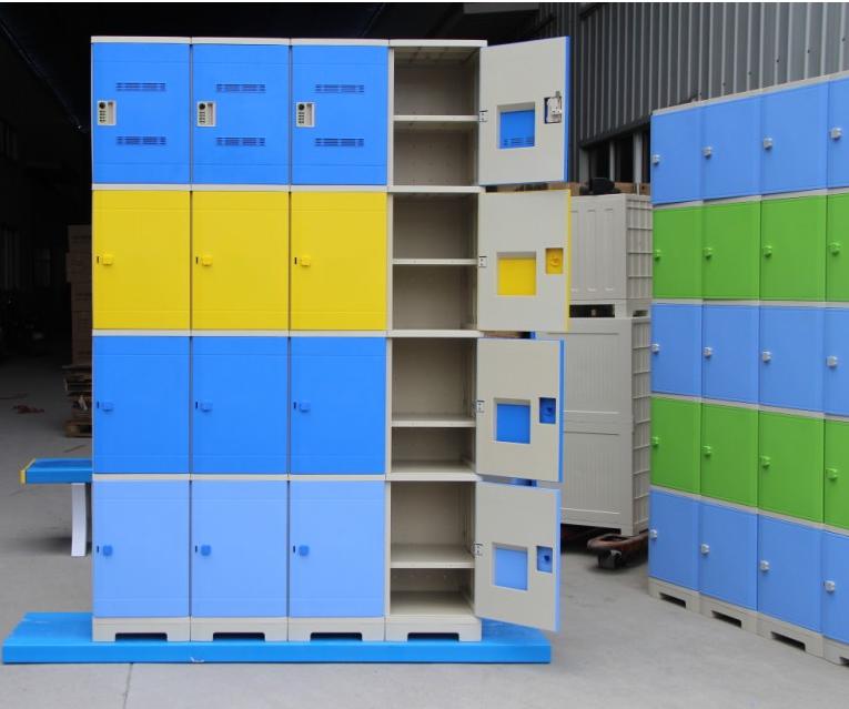 亚津厂家直销16门塑胶防水更衣柜