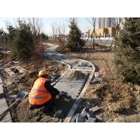石材地面铺装队 粘贴石材工人 铺装石材工程承包