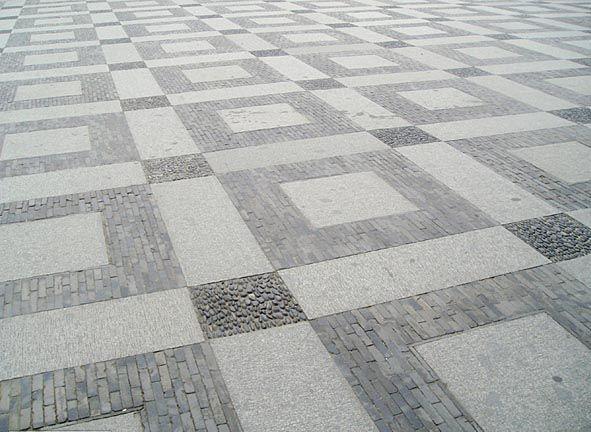 广场石材铺装队 大理石干挂 园林石材铺装工人