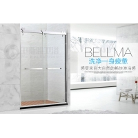 广东佛山卫生间干湿分区不锈钢玻璃门