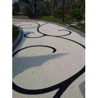 真石丽高透水性路面材料铺装、生态透水混凝土地坪