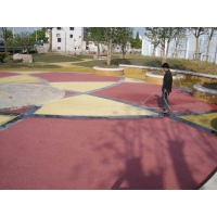 生态透水地坪,彩色透水混凝土,誉臻透水胶凝剂