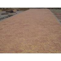 供应仿古压模地坪材料古浪混凝土硬化压模压痕地坪施工