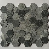 六边形石材马赛克  CHB032异形大理石高低面密拼马赛克
