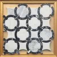 黑白马赛克异形背景墙CHB045三维四度
