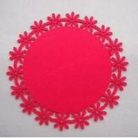 圆形红色无纺布贴