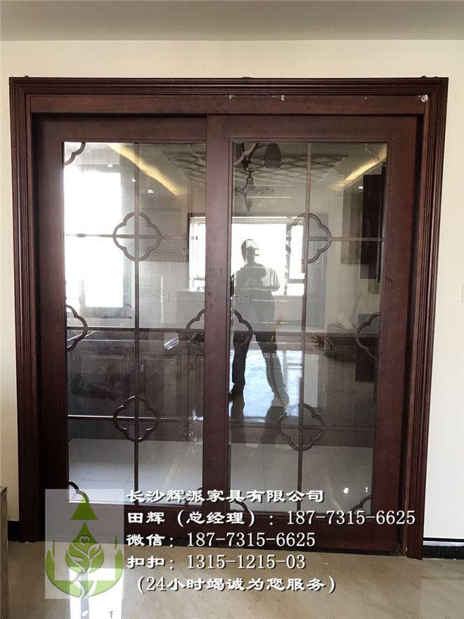 湖南长沙实木推拉门、原木书架、原木电视柜、实木护墙板