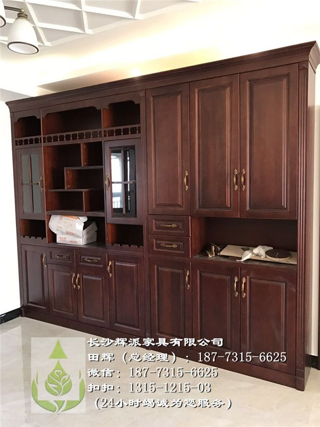 长沙原木餐边柜、湖南辉派原木书柜、长沙实木衣柜门