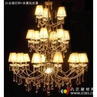 成都【聚宝照明】21头3层高档K9水晶灯/复式楼客厅灯