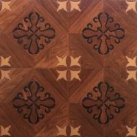 艺术拼花系列 D6208曲线拼花 高品质环保地板
