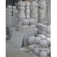 花岗岩工艺品 芝麻灰红瓶 芝麻白石线 中花细花石条