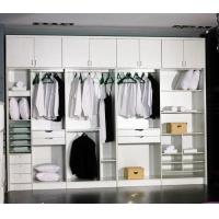 暖白大空间无门整体衣柜定做定制