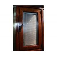 新欧标带金钢网断桥门窗铝木平开窗