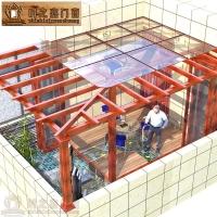 厂家直销专利型材私人定制豪华铝木复合阳光房