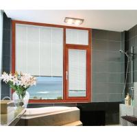 新高档门窗带中空百叶铝合金门窗平开窗