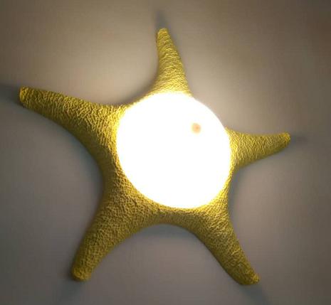 树脂装饰品灯具 树脂儿童壁灯 海星