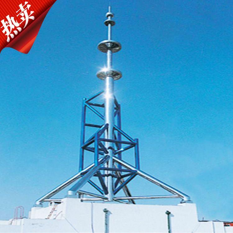 避雷塔主要用于各种建筑设施的防雷,避雷塔常见有以下几种规格:GFL角钢避雷针塔、GJT圆钢避雷针塔、GH钢管杆避雷针塔等多种形式的金属塔。 产品结构特点: 1.塔体主要采用圆钢,角钢,钢管作为塔柱材料,风荷载系数小,抗风能力强,塔柱采用法兰盘或螺栓连接,稳固性强。 2.