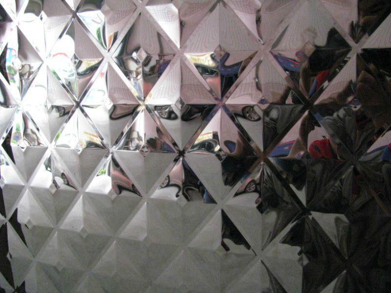 黑钛菱形镜面压花背景墙装饰不锈钢板