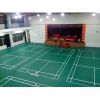 绿色荔枝纹PVC塑胶弹性羽毛球场地 室内PVC4.5mm厚荔
