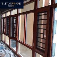 英伦风尚铝合金门窗  高层防护窗  玻璃门防护平开窗