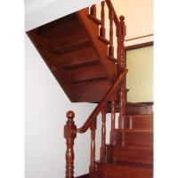 南京红灯木楼梯-U型木楼梯-装修实景7图