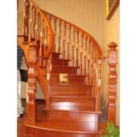 南京红灯木楼梯-扇型木楼梯-装修实景7图
