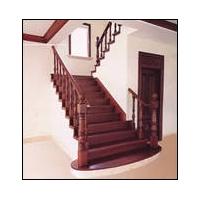 南京红灯木楼梯-U型木楼梯-装修实景图7