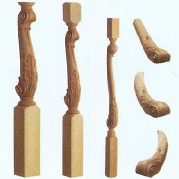 南京红灯木楼梯-柱子扶手17