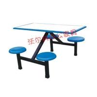 全新钢架玻璃钢餐桌 四人位 六人位学校餐桌,工地餐桌