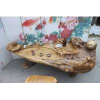 福州大板鸡翅木整体雕金蟾根雕茶几190-80-64