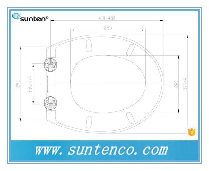 优质厂家直销脲醛材质马桶盖板 标准形缓降快拆马桶盖SU003