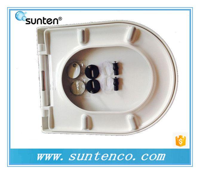 优质厂家直销脲醛材质马桶盖板 D形缓降快拆马桶盖SU004