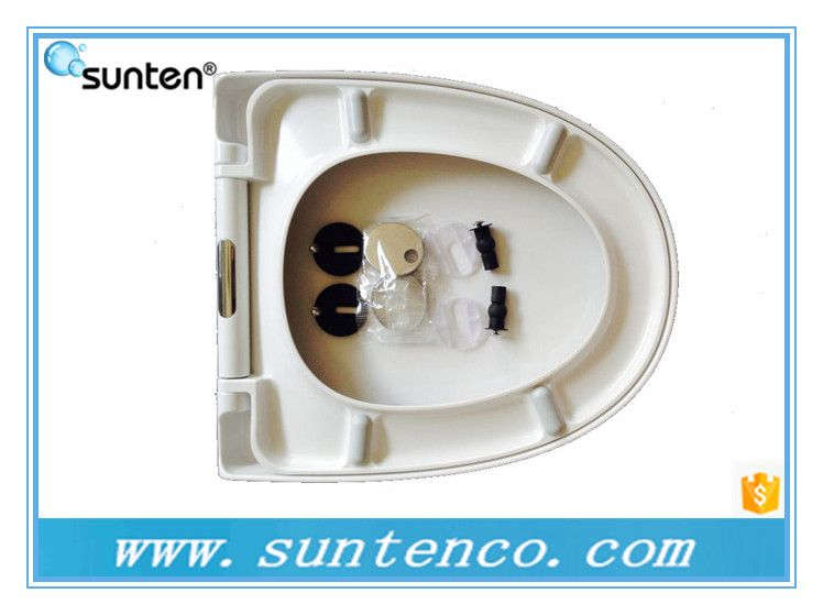 脲醛材质圆形白色坐便器盖板 缓降快拆办公用马桶盖SU01