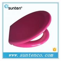 厦门卫浴标准脲醛马桶盖板 紫色坐便器马桶盖板