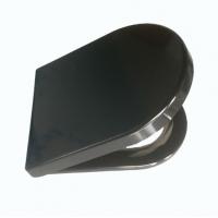现货销售孔距可调坐便盖板 黑色D形普通坐便器盖板