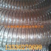江苏粉尘车间专用PU钢丝软管|通风吸尘透明钢丝软管120*0