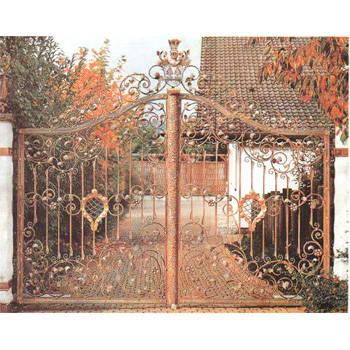 南京联润铁艺装饰工程公司-大门系列-锻钢大门-DD076