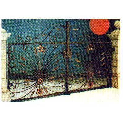 南京联润铁艺装饰工程公司-大门系列-锻钢大门-DD098