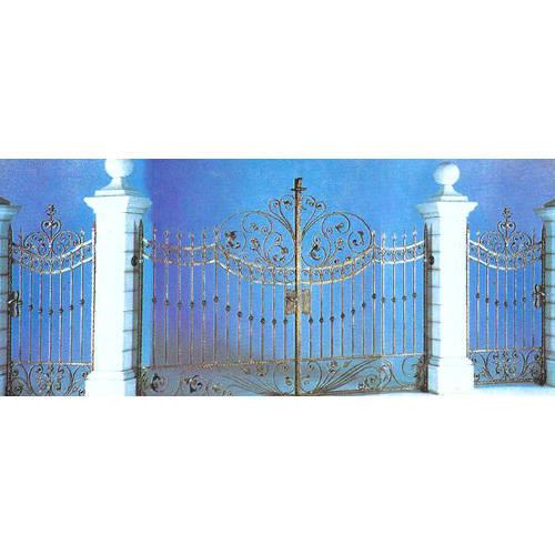 南京联润铁艺装饰工程公司-大门系列-锻钢大门-HF-D006