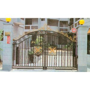 南京联润铁艺装饰工程公司-大门系列-铸铁大门-HF-D074