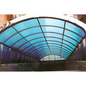 南京联润铁艺装饰工程公司-不锈钢架阳光板雨棚