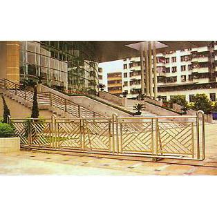 南京联润铁艺装饰工程公司-大门系列-不锈钢门窗-平移门1