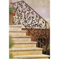 南京联润铁艺不锈钢装饰-楼梯扶手系列-锻钢扶手-LR-001