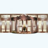 南京联润铜艺装饰-艺术铜门系列-皇冠旋转铜门