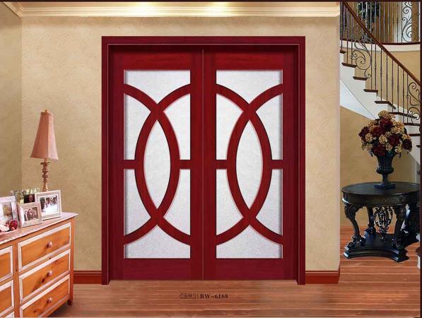 室内实木门欧式风 实木复合原木门都可 阿里木门