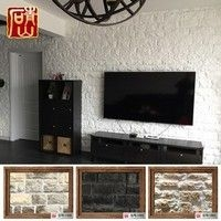 白色文化石电视背景墙砖室外仿古砖壁炉石1801